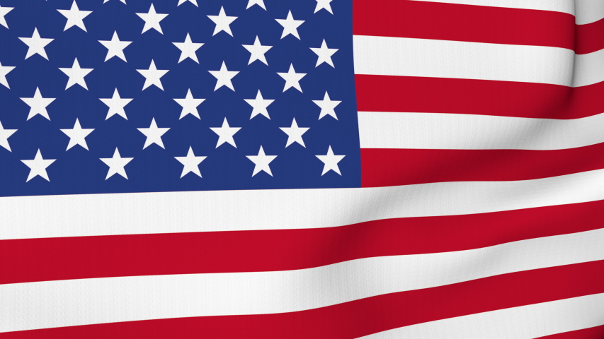 USA American flag waving in the wind. America strong. 4K 3D Animation. | Shutterstock HD Video #1056637412