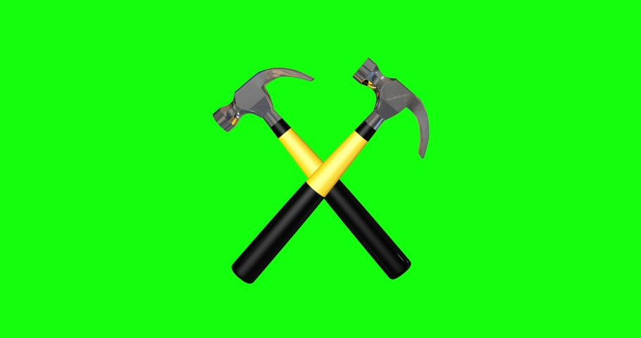 8 animations 3d hammers criss crossed criss symbol criss hammers tool labor tool symbol tool hammers worker crossed worker symbol worker hammers green screen crossed green screen labor green screen  | Shutterstock HD Video #1056642200