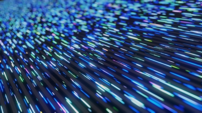 Colorful Neon light futuristic matrix stream Data Communication flying digital technologic animation 3D rendering | Shutterstock HD Video #1056673715