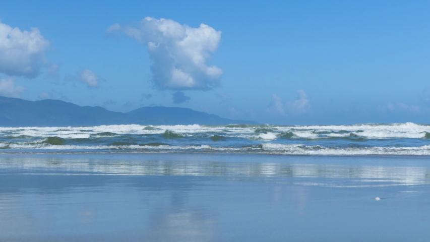 View of beach in Da Nang Vietnam sea beach | Shutterstock HD Video #1056687503