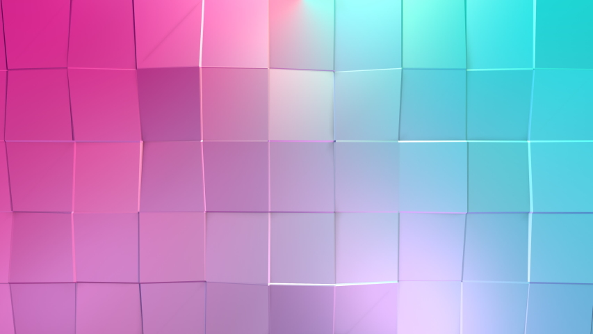 Abstract simple blue pink low poly 3d surface as lovely background soft geometric low poly motion background of shifting pure blue pink polygons 4k fullhd seamless loop background with copy space