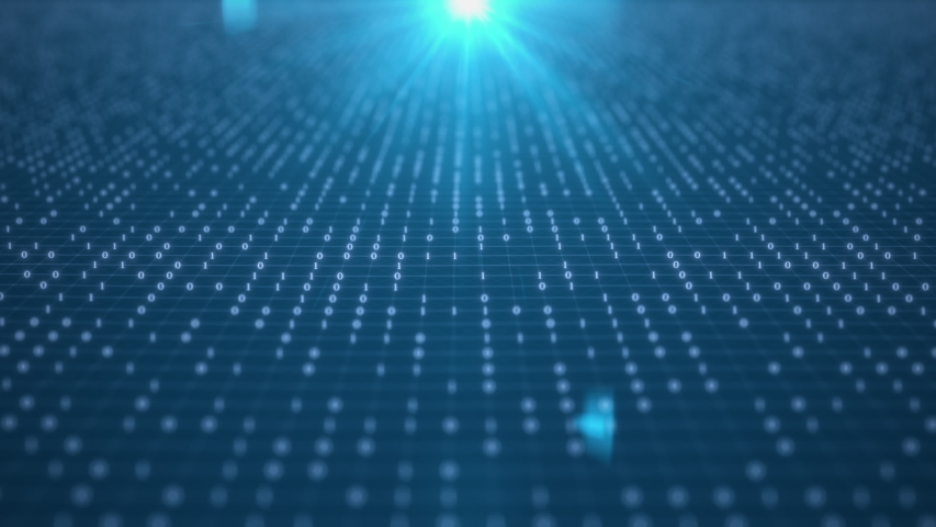 Close up 3D Futuristic digital data code blue color screen. abstract background. cyber. technology 3d rendering | Shutterstock HD Video #1056722219