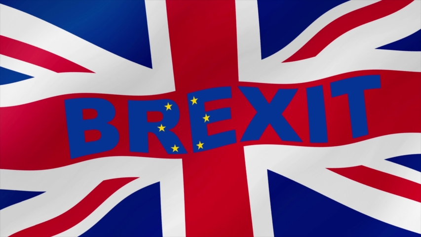 UK flag with word BREXIT waving	 | Shutterstock HD Video #1056743591