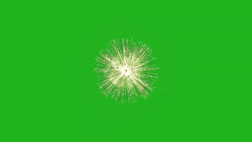 Fireworks motion graphics with green screen background