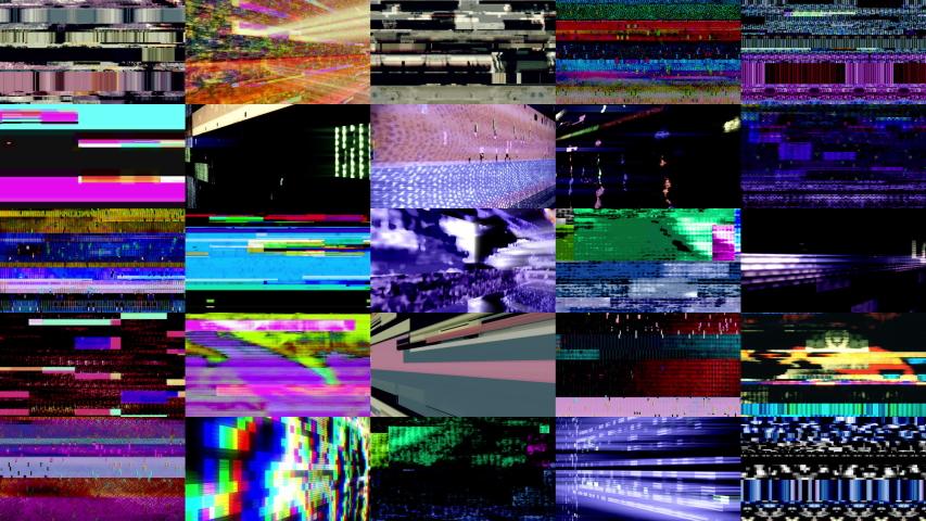 Video Wall 1006: Digital video malfunction (Loop). | Shutterstock HD Video #1056834533