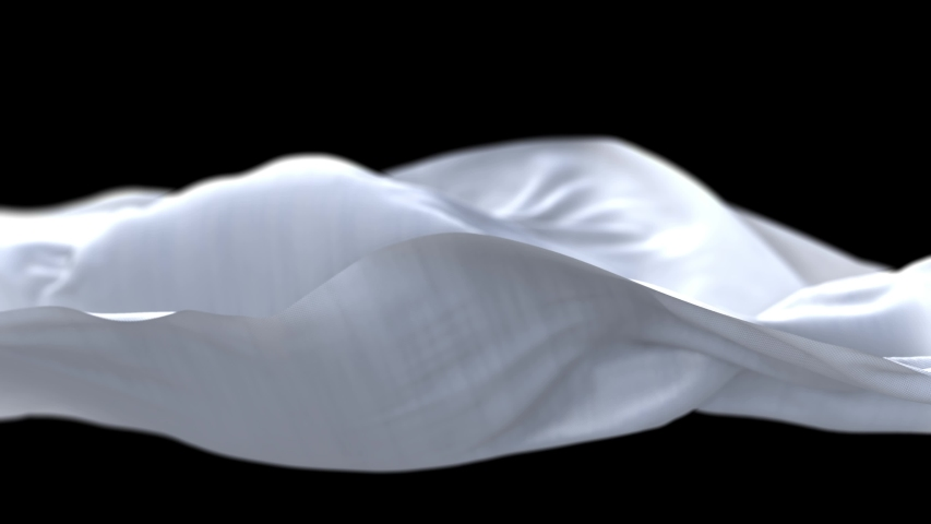 4k Wave White satin fabric Background.Wavy silk cloth fluttering in the wind.tenderness and airiness.3D digital animation of seamless flag waving ribbon streamer riband.  | Shutterstock HD Video #1056839129
