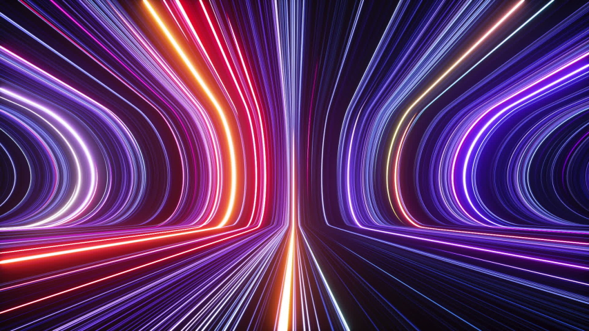 3d abstract futuristic neon background, ultra violet glowing lines, laser rays, speed of light. Looping seamless animation | Shutterstock HD Video #1056874802