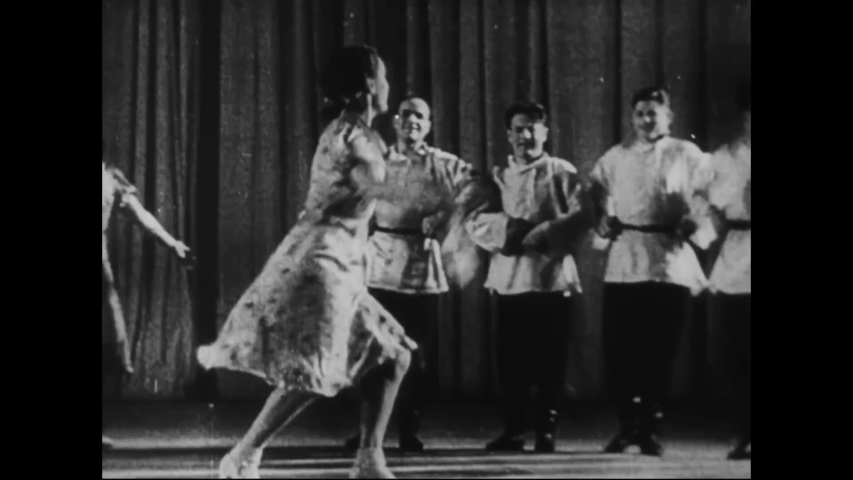 CIRCA 1941 - In this Frank Capra documentary, Russian sailors play the music accompanying traditional Russian dancers (narrated in 1943).
