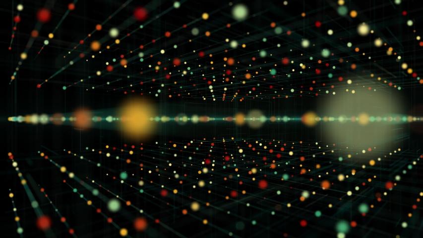 Big data stream futuristic infographic. digital futuristic technology in smart cloud server using ai artificial intelligence. | Shutterstock HD Video #1056877661