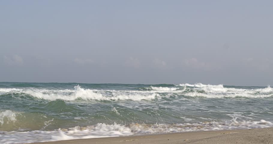 Mediterranean sea and Israeli beach | Shutterstock HD Video #10569683