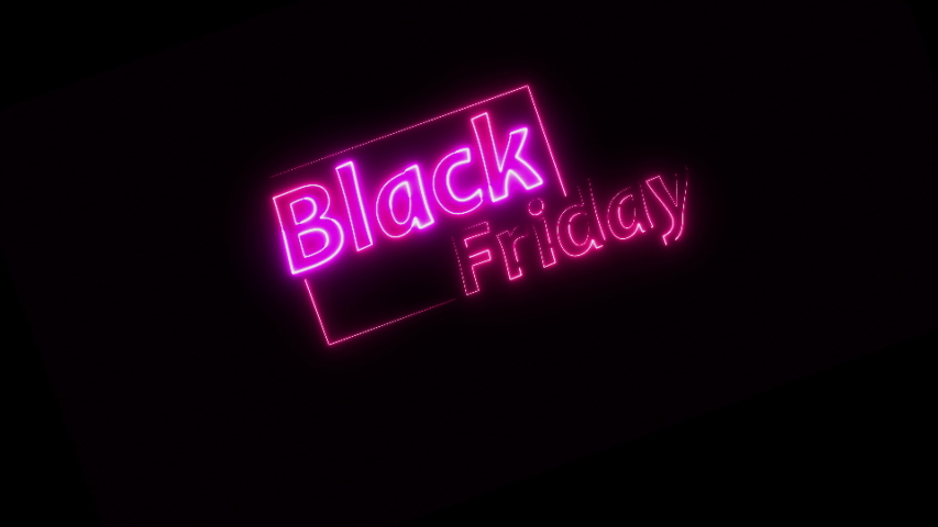 TEXT sign Black friday sell neon glow color moving seamless art background abstract motion screen | Shutterstock HD Video #1056975419