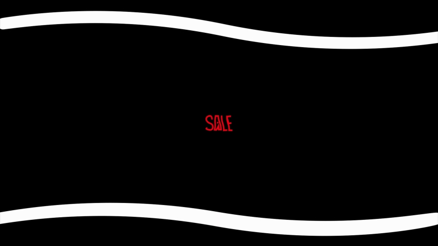 Inscription SALE on a black background in red letters   Shutterstock HD Video #1056976538