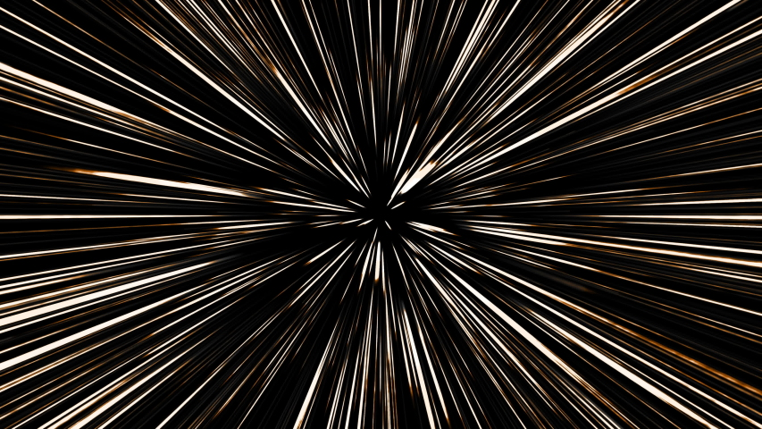 Hyperspace jump through the stars to a distant space. 4K 3D rendering traveling through star fields flying extremely fast light speed journey through a wormhole to the end of tunnel in space. | Shutterstock HD Video #1057008629