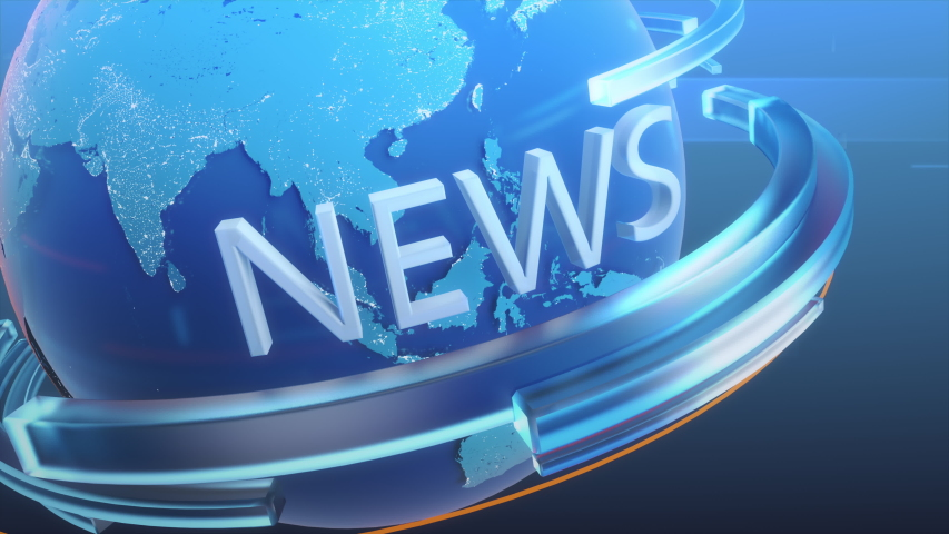 Breaking News Channel Intro Done with Conceptual 3D Logo Revolving Around Planet. News Station Broadcasting Intro Concept   Shutterstock HD Video #1057022648