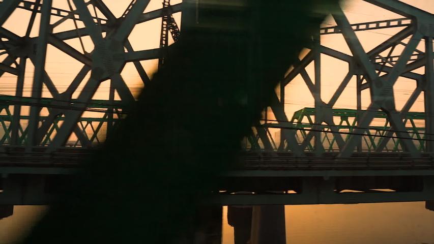 bridge at sunset, Seoul, South Korea Royalty-Free Stock Footage #1057025972