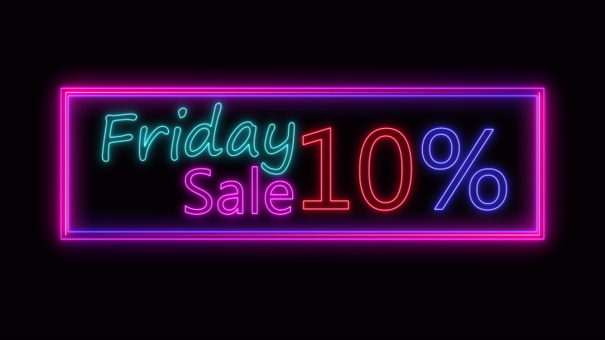TEXT sign Black friday neon glow color moving seamless art background abstract motion. concept of sale | Shutterstock HD Video #1057027874