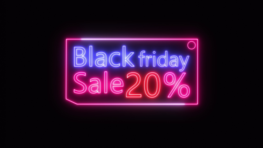 TEXT sign Black friday neon glow color moving seamless art background abstract motion. concept of sale | Shutterstock HD Video #1057027880