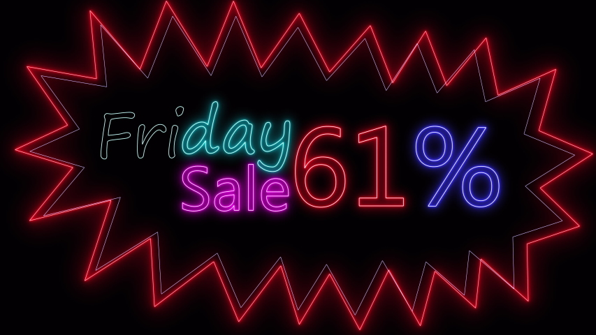 TEXT sign Black friday neon glow color moving seamless art background abstract motion. concept of sale | Shutterstock HD Video #1057027886