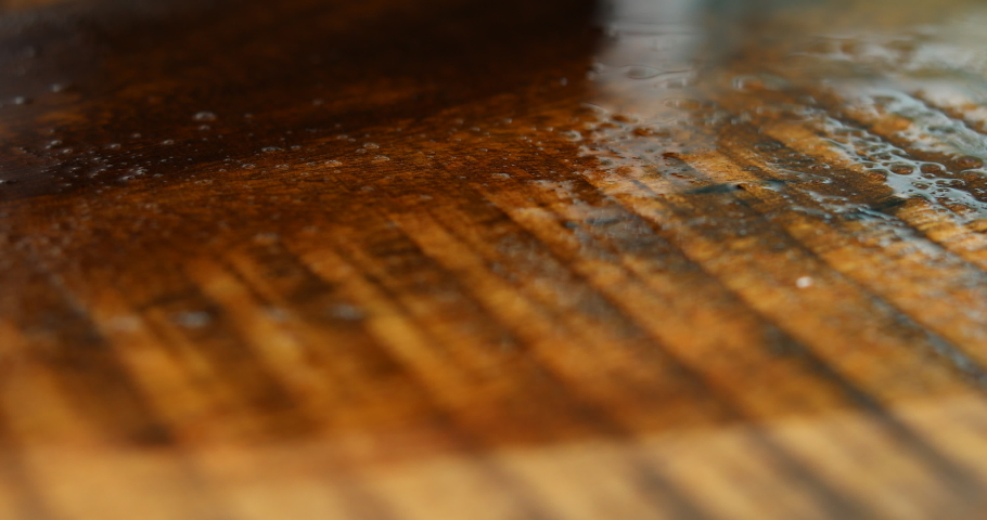 The carpenters paint the varnish with lacquer to protect the wood surface from being damaged. Royalty-Free Stock Footage #1057065320