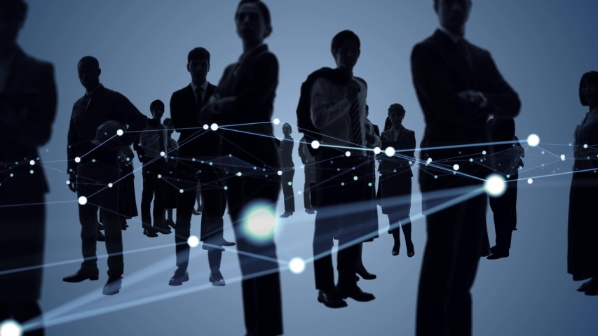 Business network concept. Group of businessperson. Teamwork. Human resources. Royalty-Free Stock Footage #1057070993