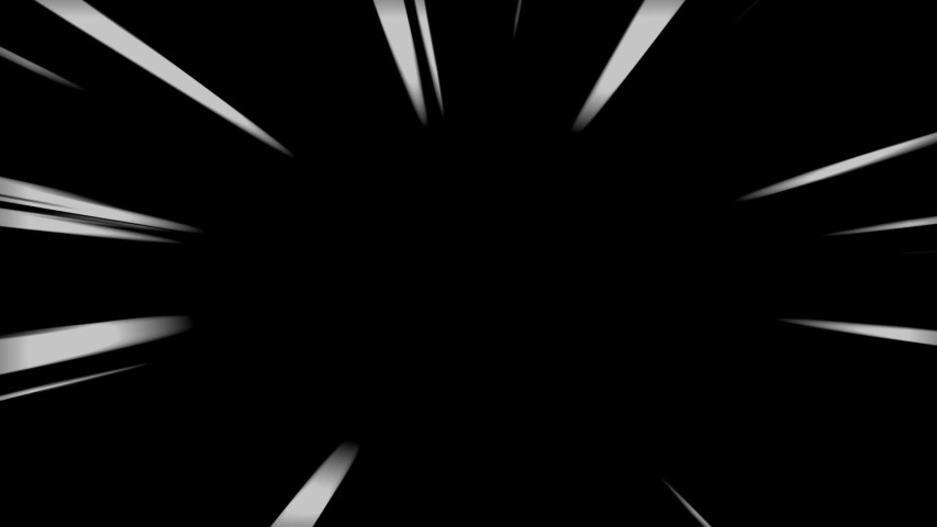 Comic Speed lines in Black&White. 4 different action speedline inspired by japanese Anime, diagonal, horizontal, vertical anda radial. Royalty-Free Stock Footage #1057073405
