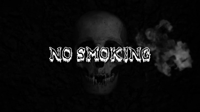 A NO SMOKING text message and a skull   Shutterstock HD Video #1057118645