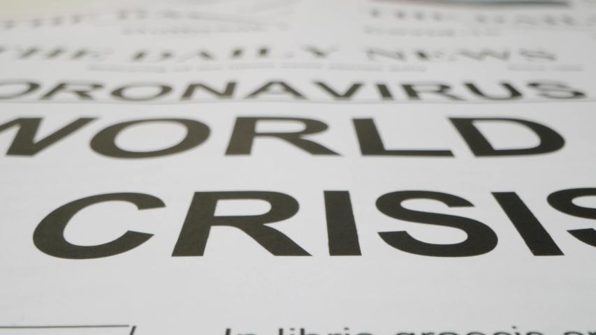 Corona virus World In Crisis News Headline   Shutterstock HD Video #1057139945