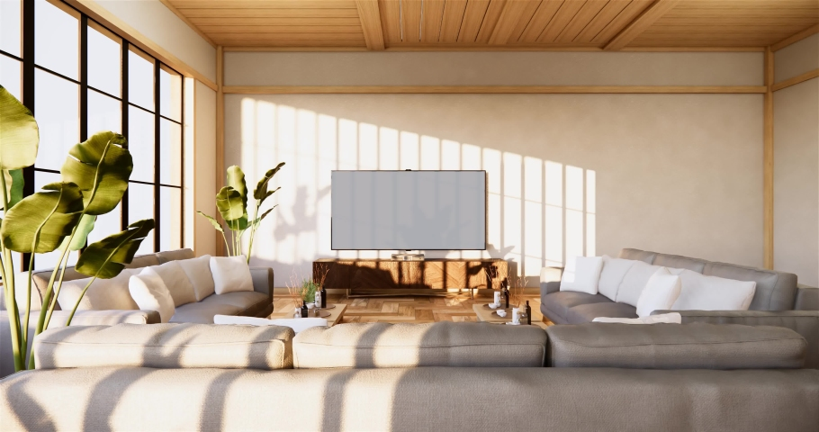 Sofa And Cabinet In Japanese Stock, Japanese Living Room Furniture
