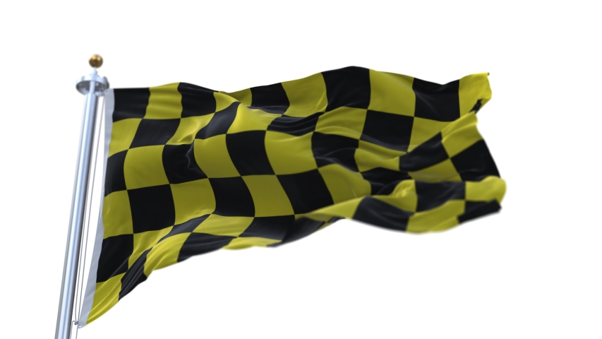 4k Checkered Race Flag Check Flag wavy silk fabric fluttering Racing Flags,seamless looped waving background.Silk cloth fluttering in wind.3D digital animation plaid Formula One car motor sport.