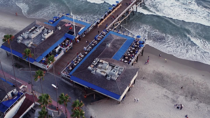 San Clemente Pier fantastic restaurants, sporting fishing, shoreline surfing, residential community, Metro and Amtrak train access, beach activities and beautiful California Sunsets