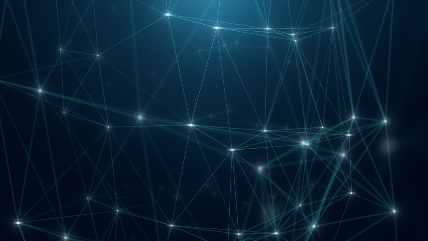 Abstract plexus background, Node and line connect, Communication, Digital technology background.   Shutterstock HD Video #1057168075