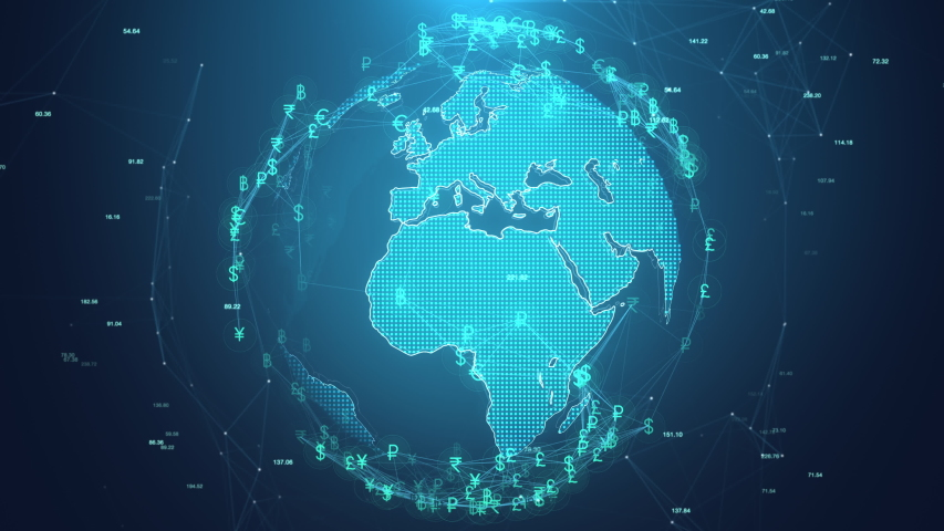 The global rotating with currency icon, Money exchange concept, Global communication, 4k Resolution.   Shutterstock HD Video #1057218733