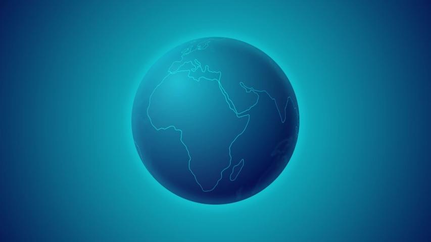 Sci-Fi Earth Planet Futuristic Global Network   Shutterstock HD Video #1057219639