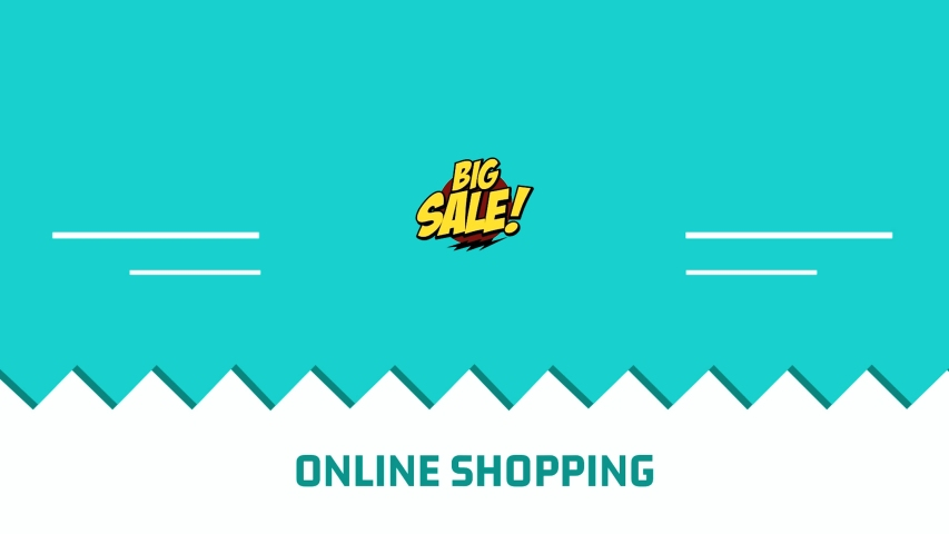 Online shopping big sale advertising animation template footage   Shutterstock HD Video #1057220386