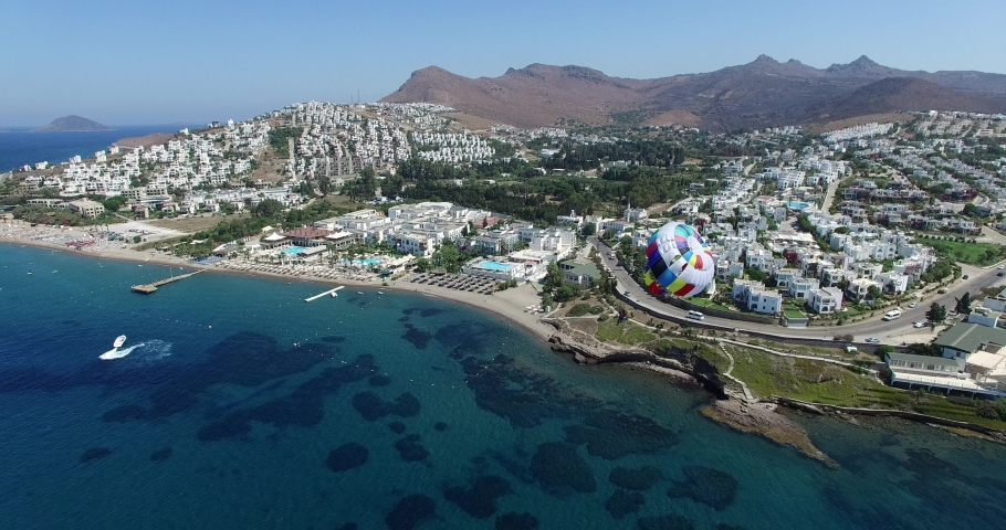 Bodrum Akyarlar Aerial view by Drone | Shutterstock HD Video #1057220818
