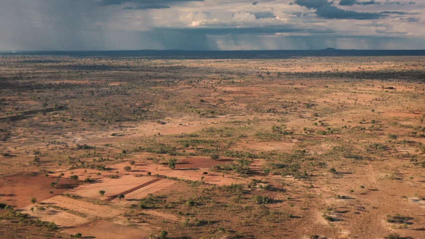 Aerial drone  South Sudan Drought of Ethiopia  village rural community | Shutterstock HD Video #1057238839