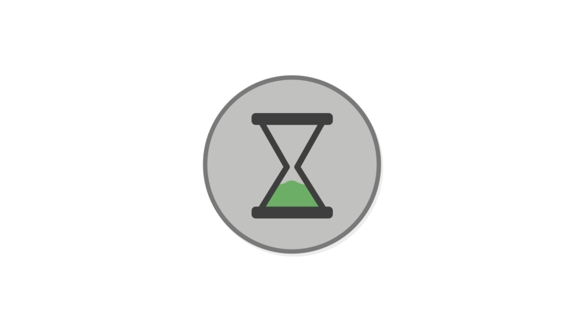 Sand Clock Flat Animated Icon. 4k Animated Adventure Icon to Improve Project and Explainer Video | Shutterstock HD Video #1057246069