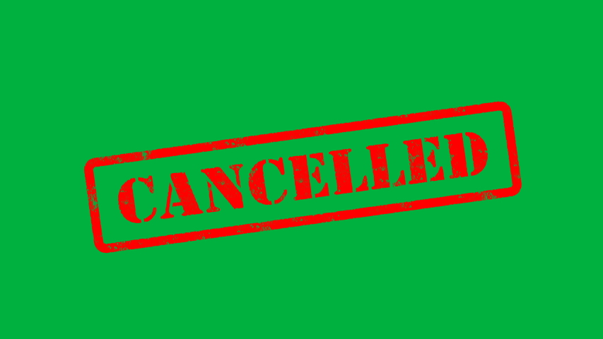 Red Cancelled Stamp Animation on Black Background, White Background, Green Screen    Shutterstock HD Video #1057247608
