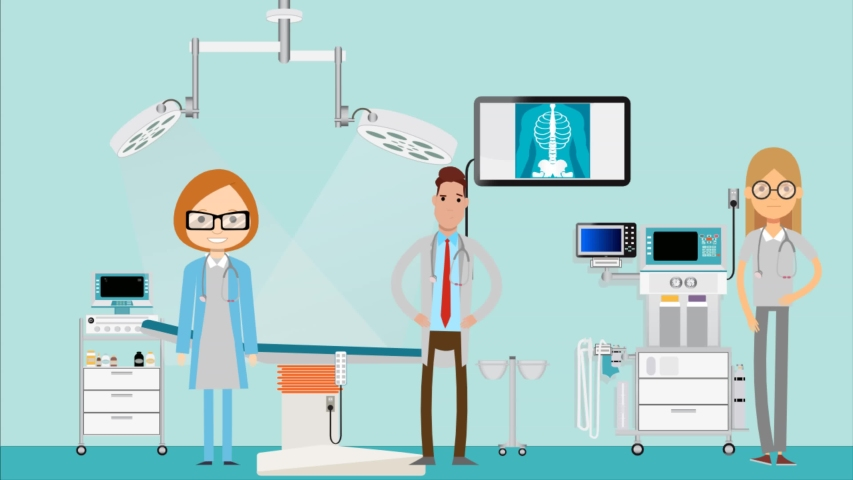 Hospital background and  doctor characters     Shutterstock HD Video #1057256992