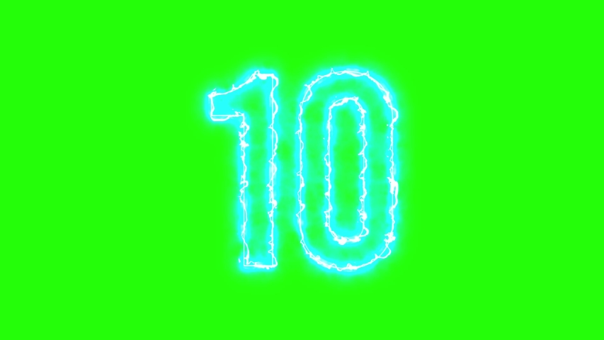 Green Screen Countdown Animation 10 to 1 seconds in 4K Neon Lights. Best Neon Lights Countdown for dark backgrounds    Shutterstock HD Video #1057259986