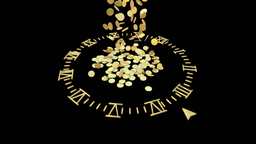 This is time money coinsaving currency video | Shutterstock HD Video #1057261942