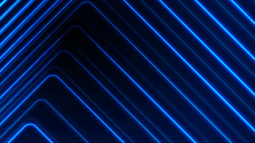 Blue glowing neon lines abstract tech futuristic motion background. Seamless looping. Video animation Ultra HD 4K  Royalty-Free Stock Footage #1057316518