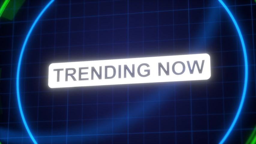 Trending now title animation. Advertising text intro outro    Shutterstock HD Video #1057325287