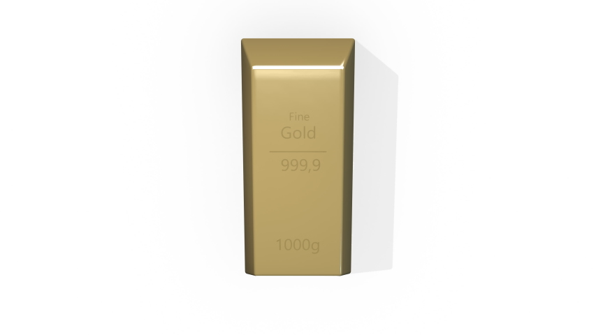 Stack gold bars rotation on background in 4k video. | Shutterstock HD Video #1057336570
