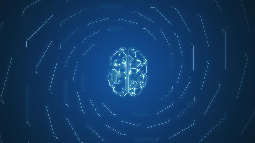 4k video of artificial intelligence brain animation, data mining concept.   Shutterstock HD Video #1057336609