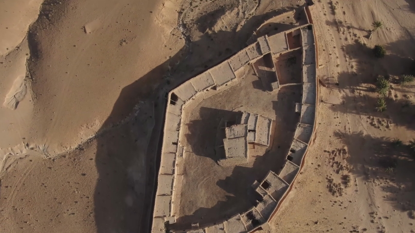 Aerial view of the ancient fortress