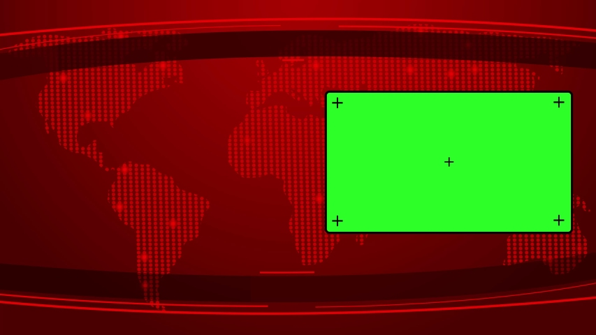 Breaking News with Green Screen LED on Side for Broadcasting Live News. 4K News Media Animation footage   Shutterstock HD Video #1057369696