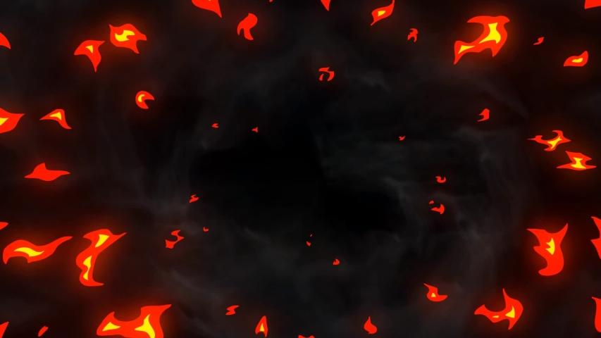4k Cartoon fire transition and fire elements. Flash fx fire transitition animation with alpha channel.