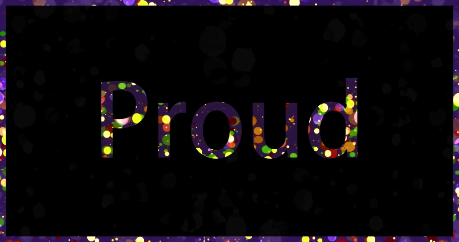 Positive - motivational word. Colorful text animation with bubbles and droplets changing colors. | Shutterstock HD Video #1057406917
