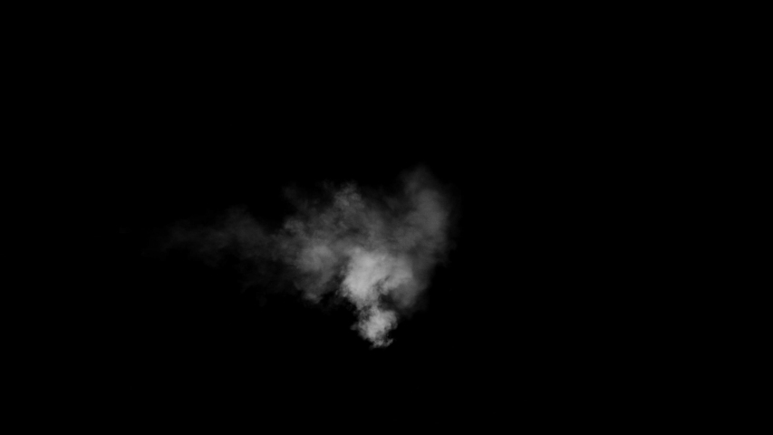 Low density smoke puff spreading concentrically outwards / Gunshot smoke / Shockwave smoke. Separated on pure black background, contains alpha channel. | Shutterstock HD Video #1057407535